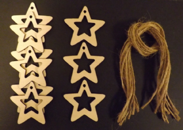 Hollow Star Gift Tags Xmas Decoration 60mm Pack of 10